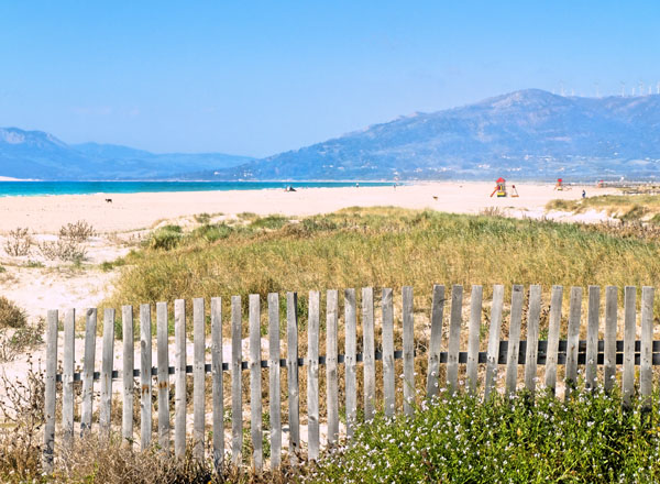 Strand Los Lances in Tarifa Andalusien
